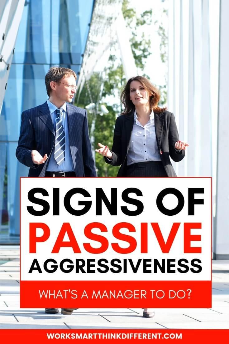 Signs of Passive Aggressiveness